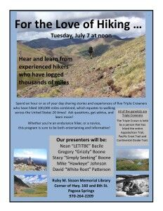 For the Love of Hiking @ Ruby Sasson Library | Pagosa Springs | Colorado | United States
