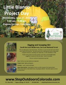Little Blanco Project Day - in 2018 @ Will be provided to registrants; we will carpool to the trailhead