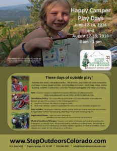 Happy Camper Play Days - Week One @ Step Outdoors Basecamp