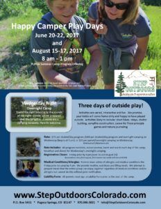 Happy Camper Days - Week One @ Step Outdoors Basecamp