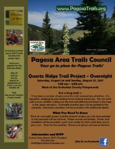 Trail Project - Quartz Ridge Trail @ Meet at the City Market Parking Lot